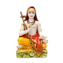 Indian Marble Shankracharya Statues