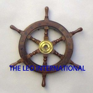 Nautical Ship Wooden Wheel