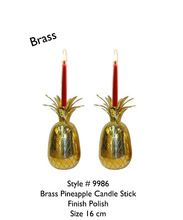 Brass Pineapple Candle Stick