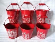 RED GALVANIZED BUCKET