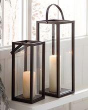 Wooden Hanging Candle Lantern