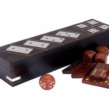 Black Colored Dominoes Game Box