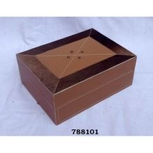 Leather Wooden Jewelry Box