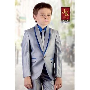 Silver Kids Coat Suit