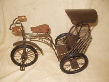 Iron Wire Rickshaw Sculptures