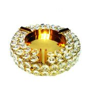 Crystal Beaded Round Ashtray