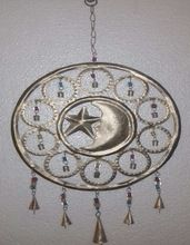 Moon Star Wind Chime Bells Hanging