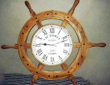 Ship Wheel Clock