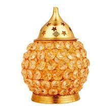 Brass Crystal Matka Design Diya