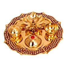 Brass Pooja Aarti Thali
