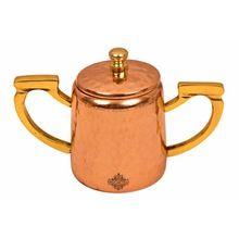 Steel Copper Hammered Sugar Pot