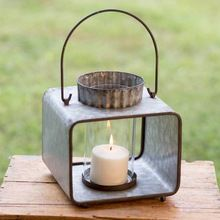 Candle Holder With Glass Container and Hanging Handle