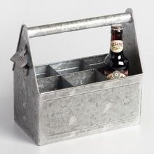 Galvanized Beer Caddy Bucket