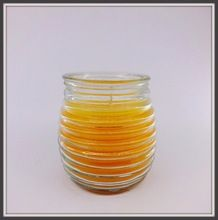 Spiral Glass Jar Scented Votive Candle