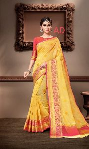 Cotton Jari Butta Saree