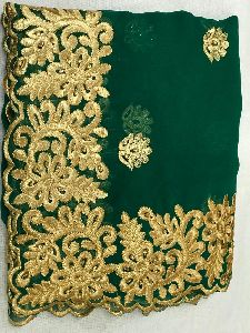 Georgette Embroidered Saree