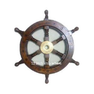 12 inch Wooden Ship Wheel