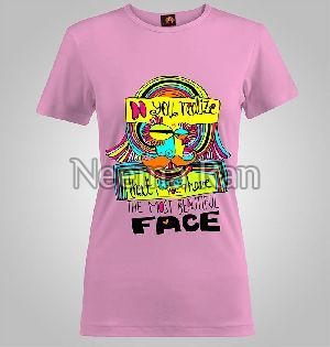 Ladies Printed T-shirts(beautiful Face)