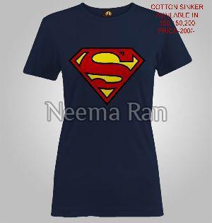 Ladies Printed T Shirts (superman)