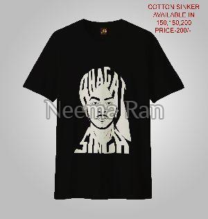 Men Printed T-shirts (bhagat Singh Ji)