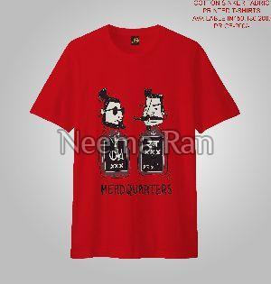 Men Printed T-shirts (head Quaters)