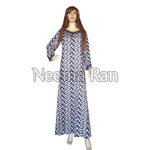 Rayon Printed Long Gown