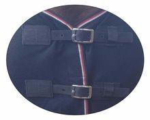 Navy Dark Blue Oxford Neck Less Pure Woolen Rug