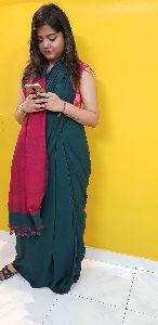 Khadi Bengal Cotton With Matka Silk Pallu