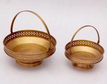 Brass Metal Fruit Basket