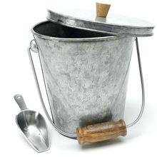 Galvanized Metal Ice Bucket With Ice Shovel With Wood Handle