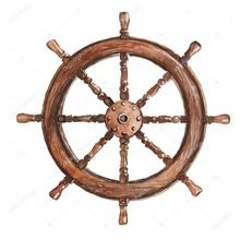 Nautical Wood Ship Wheel Wall Decor
