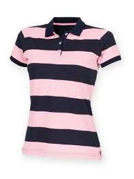 Ladies Striped Polo T-shirts