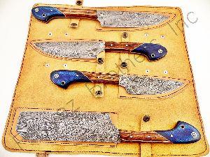 Chef Set Fbk-1041 Custom Made Damascus Steel Kitchen Knife Set