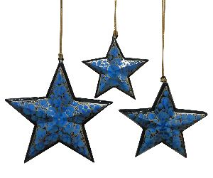 Paper Mache Decorative Stars
