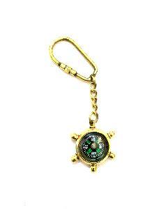Nautical Ship Compass Keychain
