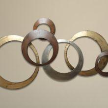 Brass India Metallic wall decor ring