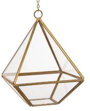 Hanging Metal Brass Glass Lantern