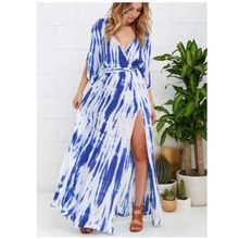 Long Poncho Designer Kemono Maxi Dress