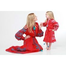Mother Daughter Combo Red Kids Dress