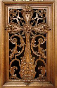 Jesus Wooden Carved Cross