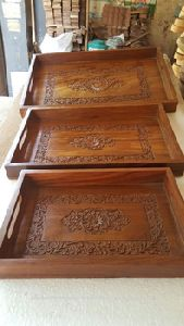 Wood Tray Carved