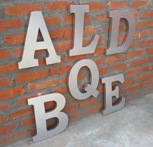 Metal Wall Alphabet