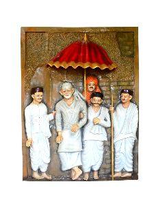 Shirdi Sai Baba 3d Mural Painting