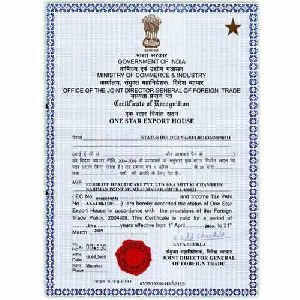 Export House Certification Services