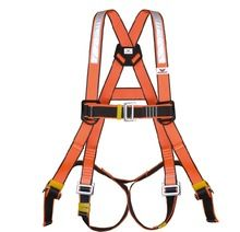 full body safety harness with reflector webbing