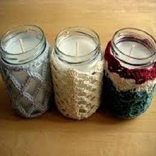 Coconut And Mason Jar Candles