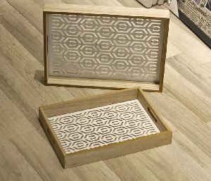 Laser Cut Food Wooden Storage Tray