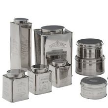 Stainless Steel Tea Coffee Sugar Canister Set