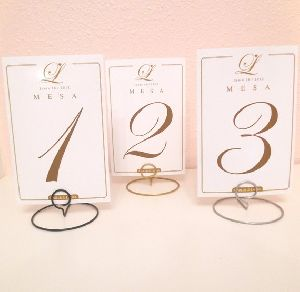 Table Number Holder Stand