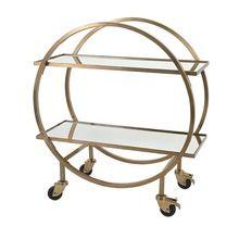 Wine Serving Carts With 2 Floor Elegant Design